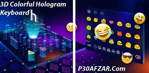 3D Colorful Hologram Keyboard