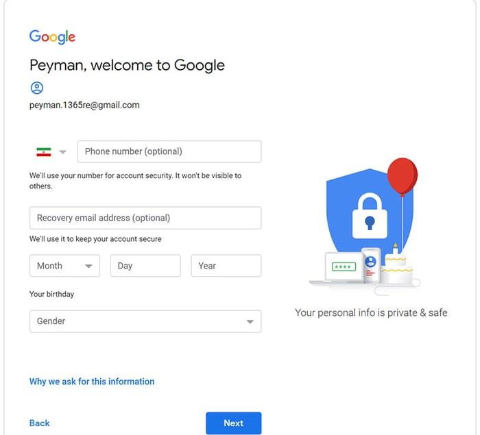 آموزش تصویری و مرحله به مرحله ساخت حساب گوگل